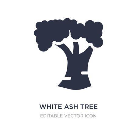 white ash tree icon on white background. Simple element illustration from Nature concept. white ash tree icon symbol design.