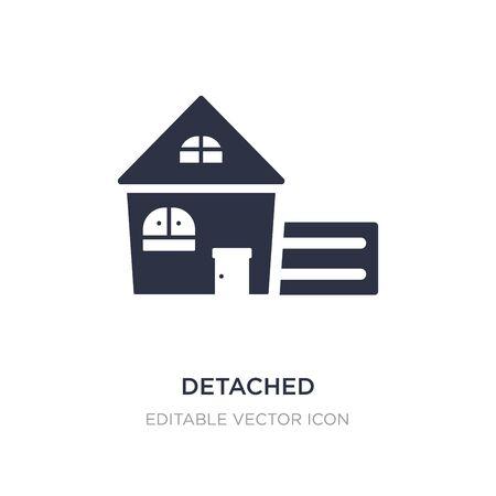detached icon on white background. Simple element illustration from Buildings concept. detached icon symbol design. Vektoros illusztráció