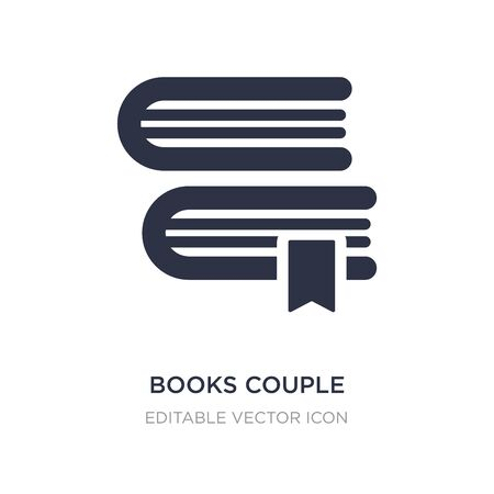 books couple icon on white background. Simple element illustration from Education concept. books couple icon symbol design.
