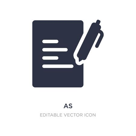 as icon on white background. Simple element illustration from Education concept. as icon symbol design.