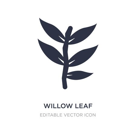 willow leaf icon on white background. Simple element illustration from Nature concept. willow leaf icon symbol design.