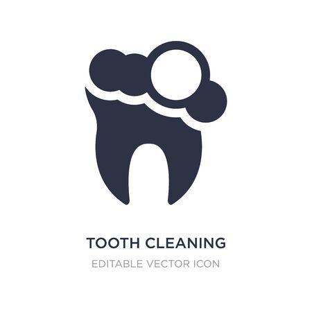 tooth cleaning icon on white background. Simple element illustration from Dentist concept. tooth cleaning icon symbol design. Stock Illustratie
