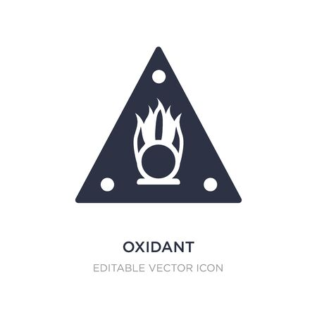 oxidant icon on white background. Simple element illustration from General concept. oxidant icon symbol design. Vectores