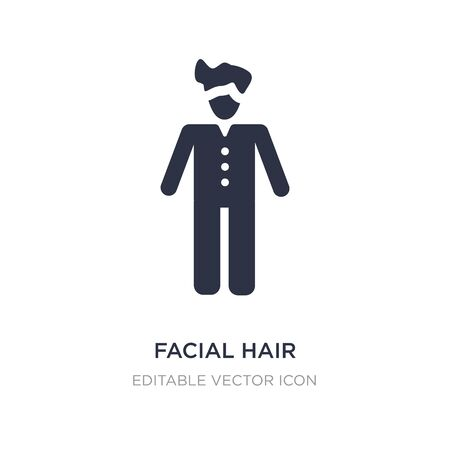 facial hair icon on white background. Simple element illustration from People concept. facial hair icon symbol design.