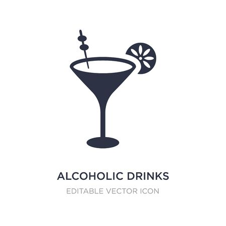 alcoholic drinks icon on white background. Simple element illustration from Food concept. alcoholic drinks icon symbol design.