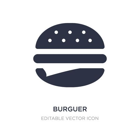 burguer icon on white background. Simple element illustration from Food concept. burguer icon symbol design.