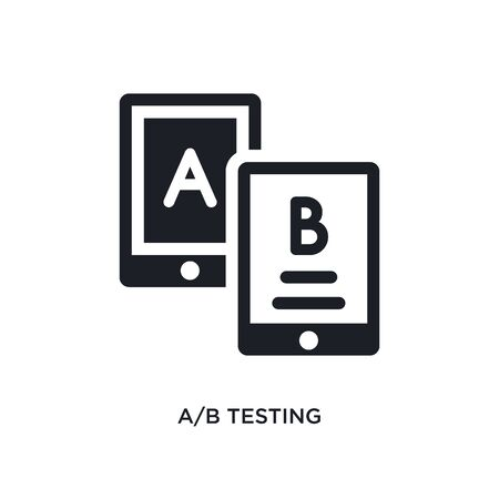ab testing isolated icon. simple element illustration from technology concept icons. ab testing editable logo sign symbol design on white background. can be use for web and mobile