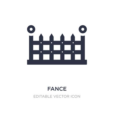 fance icon on white background. Simple element illustration from Buildings concept. fance icon symbol design. Stock Illustratie