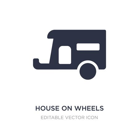 house on wheels icon on white background. Simple element illustration from Tools and utensils concept. house on wheels icon symbol design.