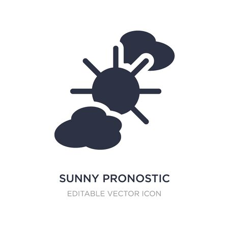 sunny pronostic icon on white background. Simple element illustration from Nature concept. sunny pronostic icon symbol design.