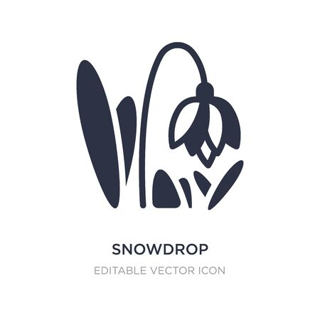 snowdrop icon on white background. Simple element illustration from Architecture and city concept. snowdrop icon symbol design.