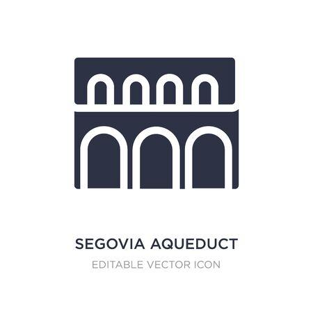 segovia aqueduct icon on white background. Simple element illustration from Monuments concept. segovia aqueduct icon symbol design. Vecteurs