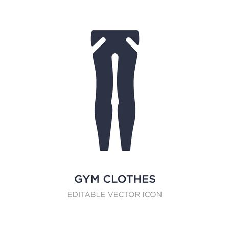 gym clothes icon on white background. Simple element illustration from Fashion concept. gym clothes icon symbol design.