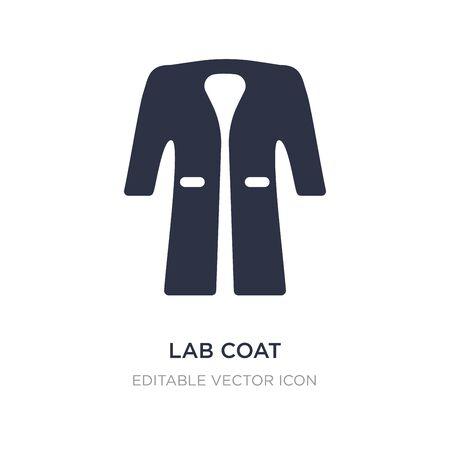 icono de bata de laboratorio sobre fondo blanco. Ilustración de elemento simple del concepto de moda. diseño de símbolo de icono de bata de laboratorio.