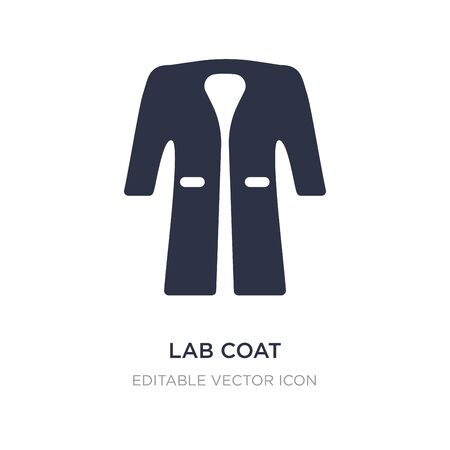 lab coat icon on white background. Simple element illustration from Fashion concept. lab coat icon symbol design.