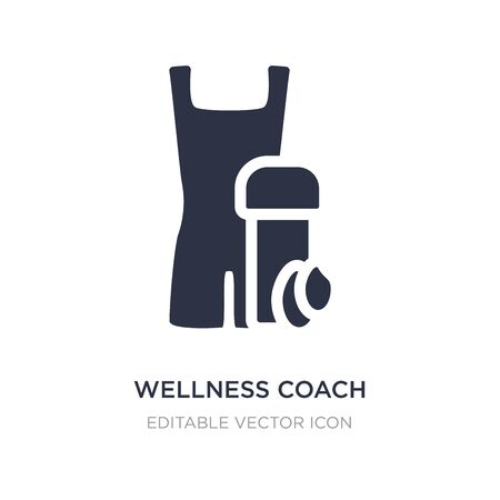 wellness coach icon on white background. Simple element illustration from Fashion concept. wellness coach icon symbol design.