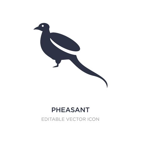 pheasant icon on white background. Simple element illustration from Animals concept. pheasant icon symbol design. Ilustração