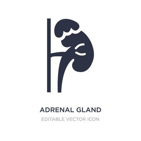 icône de la glande surrénale sur fond blanc. Illustration d'élément simple du concept médical. conception de symbole d'icône de glande surrénale. Vecteurs