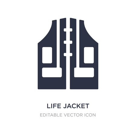 life jacket icon on white background. Simple element illustration from General concept. life jacket icon symbol design.