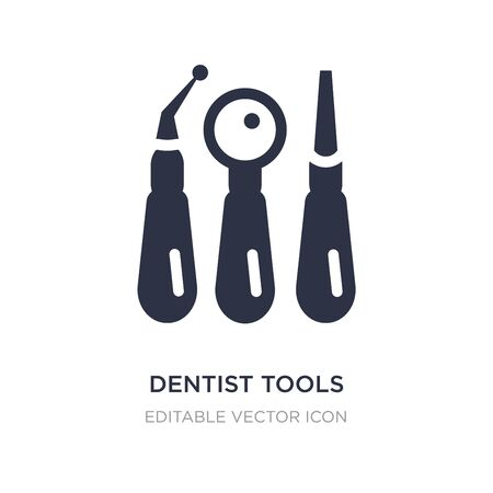 dentist tools icon on white background. Simple element illustration from Dentist concept. dentist tools icon symbol design.