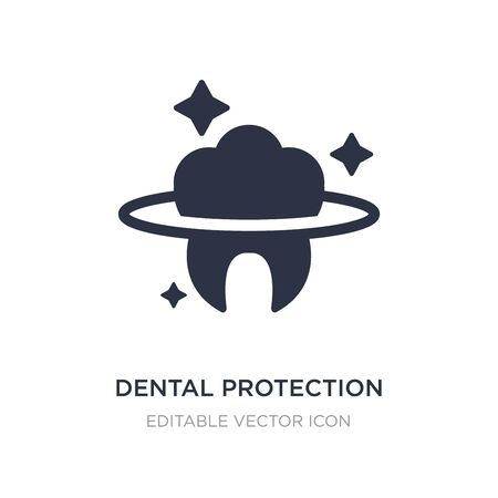 dental protection icon on white background. Simple element illustration from Dentist concept. dental protection icon symbol design. Stockfoto - 134970730