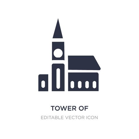 tower of nevyansk in russia icon on white background. Simple element illustration from Monuments concept. tower of nevyansk in russia icon symbol design. Illustration