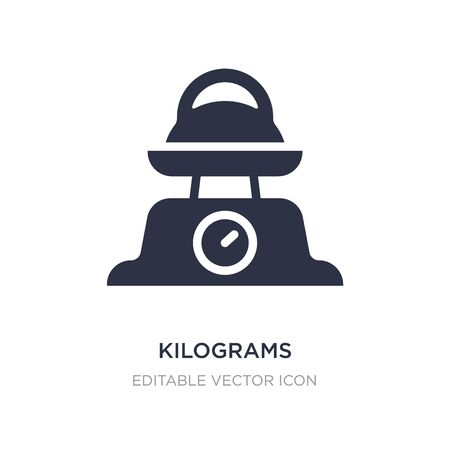 kilograms icon on white background. Simple element illustration from Other concept. kilograms icon symbol design. Illusztráció
