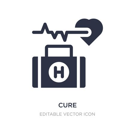 cure icon on white background. Simple element illustration from Medical concept. cure icon symbol design.