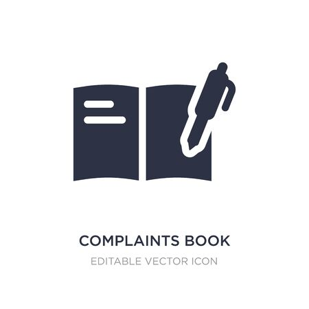 complaints book icon on white background. Simple element illustration from Communications concept. complaints book icon symbol design.
