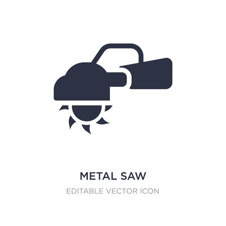 metal saw icon on white background. Simple element illustration from Construction and tools concept. metal saw icon symbol design.