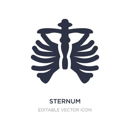 sternum icon on white background. Simple element illustration from Medical concept. sternum icon symbol design.