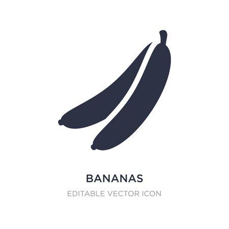 bananas icon on white background. Simple element illustration from Food concept. bananas icon symbol design. Illusztráció