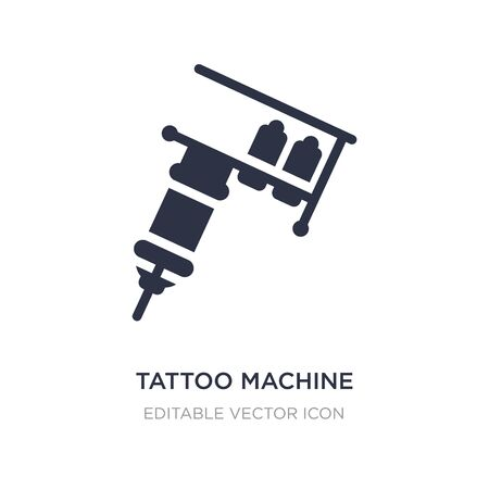 Tattoo-Maschine-Symbol auf weißem Hintergrund. Einfache Elementillustration aus anderem Konzept. Tattoo-Maschine-Symbol-Symbol-Design.