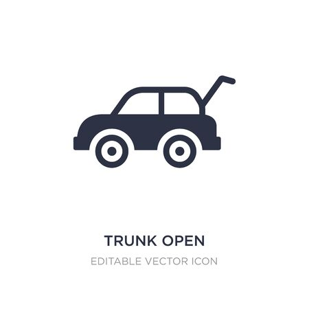trunk open icon on white background. Simple element illustration from Gaming concept. trunk open icon symbol design.