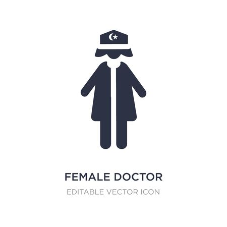 female doctor icon on white background. Simple element illustration from People concept. female doctor icon symbol design.