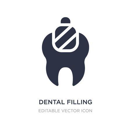 dental filling icon on white background. Simple element illustration from Dentist concept. dental filling icon symbol design.