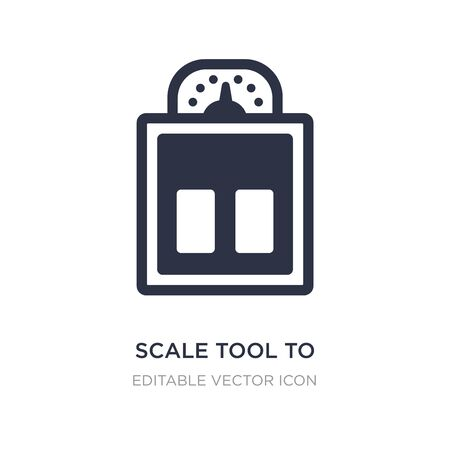 scale tool to control body weight standing on it icon on white background. Simple element illustration from Medical concept. scale tool to control body weight standing on it icon symbol design.