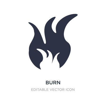 burn icon on white background. Simple element illustration from Nature concept. burn icon symbol design.