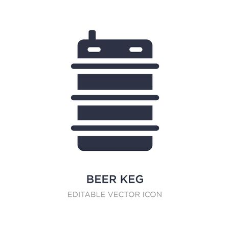 beer keg icon on white background. Simple element illustration from Food and restaurant concept. beer keg icon symbol design.