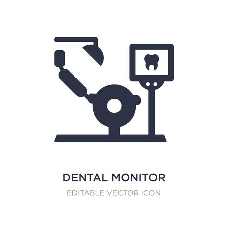 dental monitor icon on white background. Simple element illustration from Dentist concept. dental monitor icon symbol design.