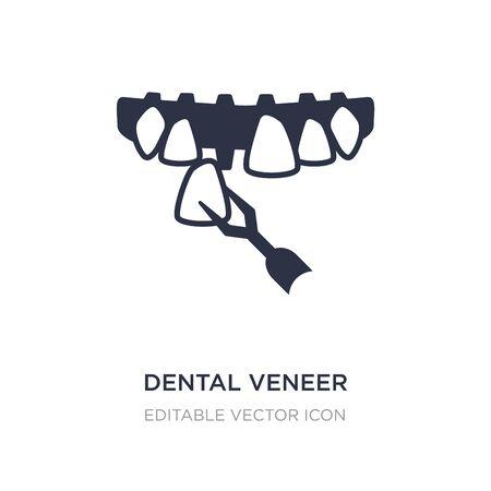 dental veneer icon on white background. Simple element illustration from Dentist concept. dental veneer icon symbol design.