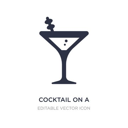 cocktail on a glass icon on white background. Simple element illustration from Food concept. cocktail on a glass icon symbol design.