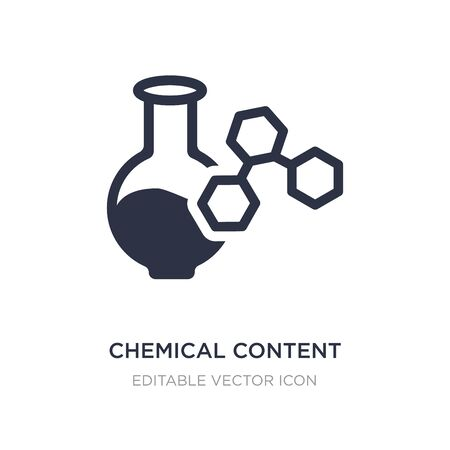 chemical content icon on white background. Simple element illustration from Education concept. chemical content icon symbol design. Stock Vector - 134971326