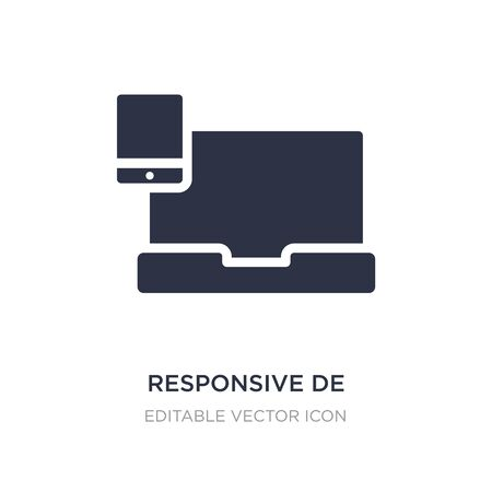 responsive de icon on white background. Simple element illustration from Computer concept. responsive de icon symbol design. Illustration