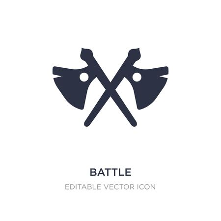 battle icon on white background. Simple element illustration from Weapons concept. battle icon symbol design.