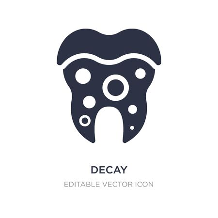 decay icon on white background. Simple element illustration from Dentist concept. decay icon symbol design. Stockfoto - 134971463