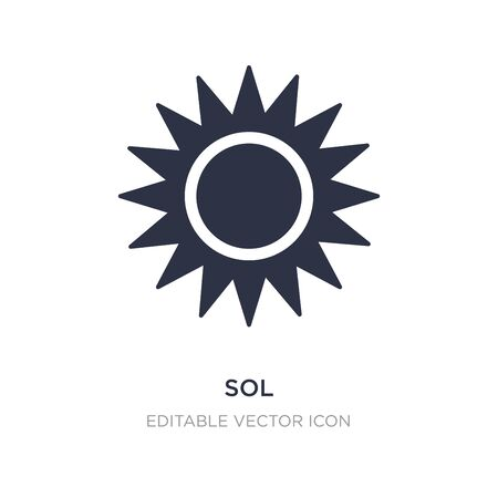 sol icon on white background. Simple element illustration from Nature concept. sol icon symbol design.