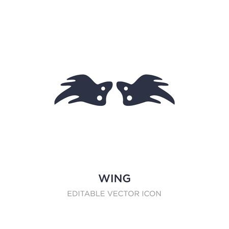 wing icon on white background. Simple element illustration from Animals concept. wing icon symbol design.
