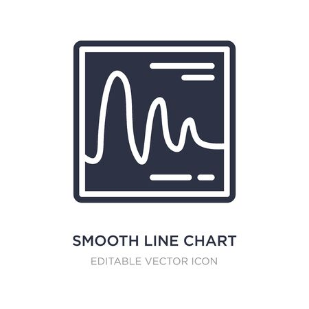 smooth line chart icon on white background. Simple element illustration from Business concept. smooth line chart icon symbol design.