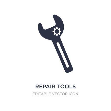 repair tools icon on white background. Simple element illustration from Edit tools concept. repair tools icon symbol design. Illusztráció